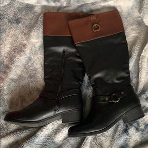 Rampage Shoes - Black and brown riding boots size 8.5